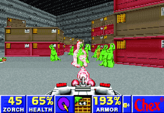 Screenshot presenting Chex Quest Game