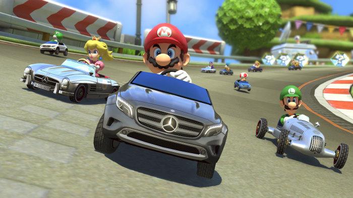 Mercedes branding in Mario
