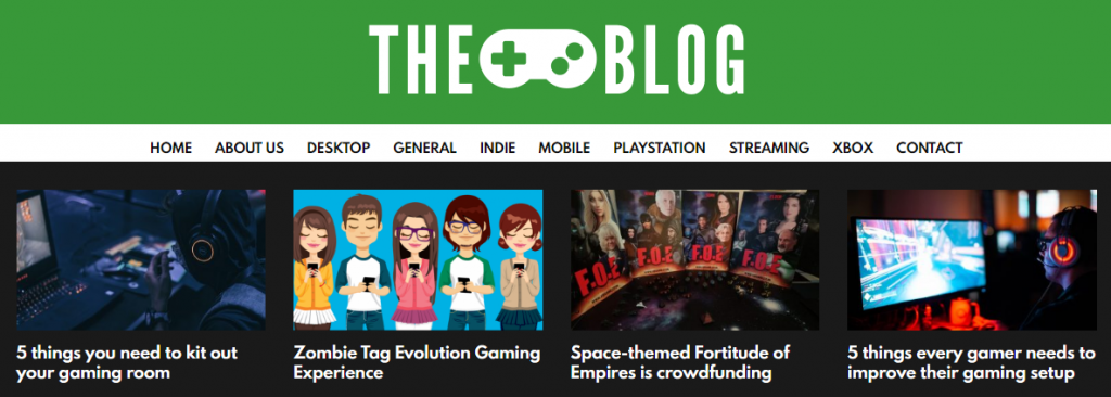 Example of A Well-Designed Blog Menu