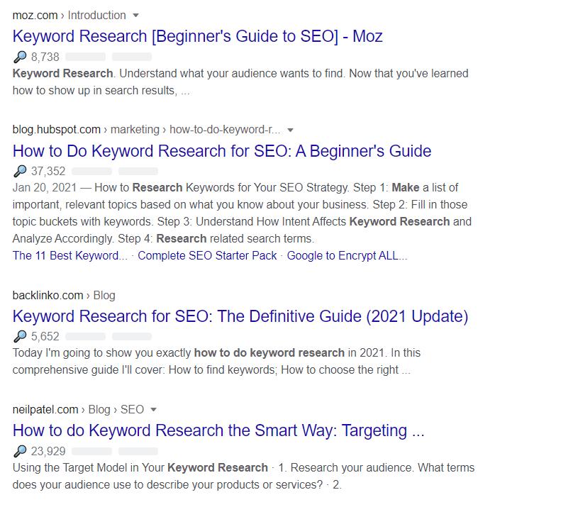 serp keyword research