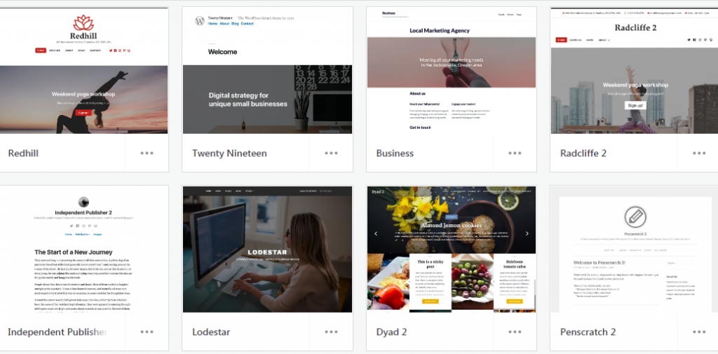 Examples of Free WordPress themes For Starting A Blog