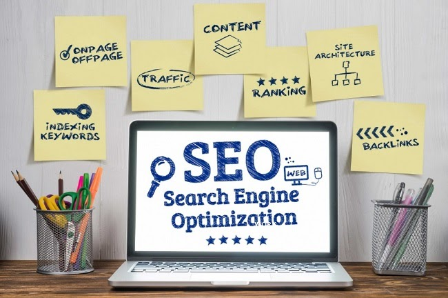 Image presenting eCommerce SEO as a component consisting of numerous categories