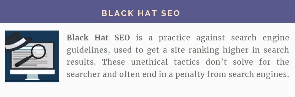 definition of black hat SEO