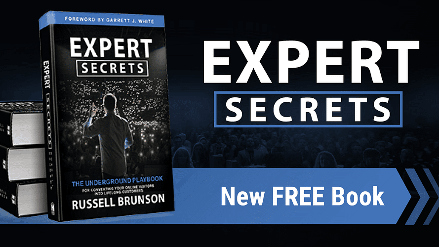 Russell Brunson Expert Secrets - sales call to get a new free book