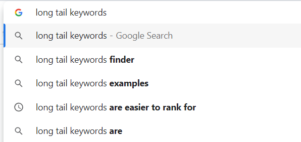 long-tail Logitech keywords Google suggestions