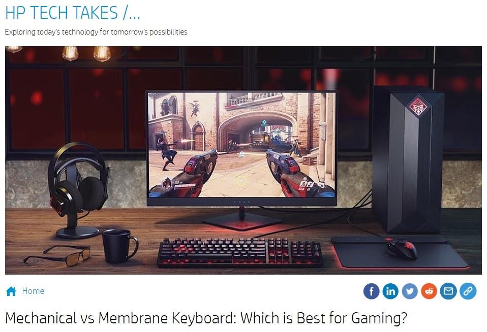 HP blog post- Mechanical vs Membrane Keyboard