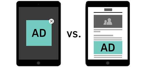 native ad vs traditional website ad