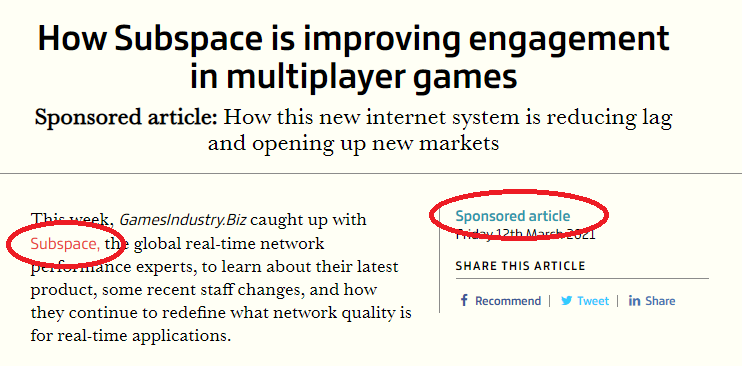 subspace sponsored article