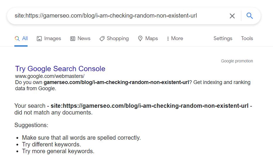 Google search box results