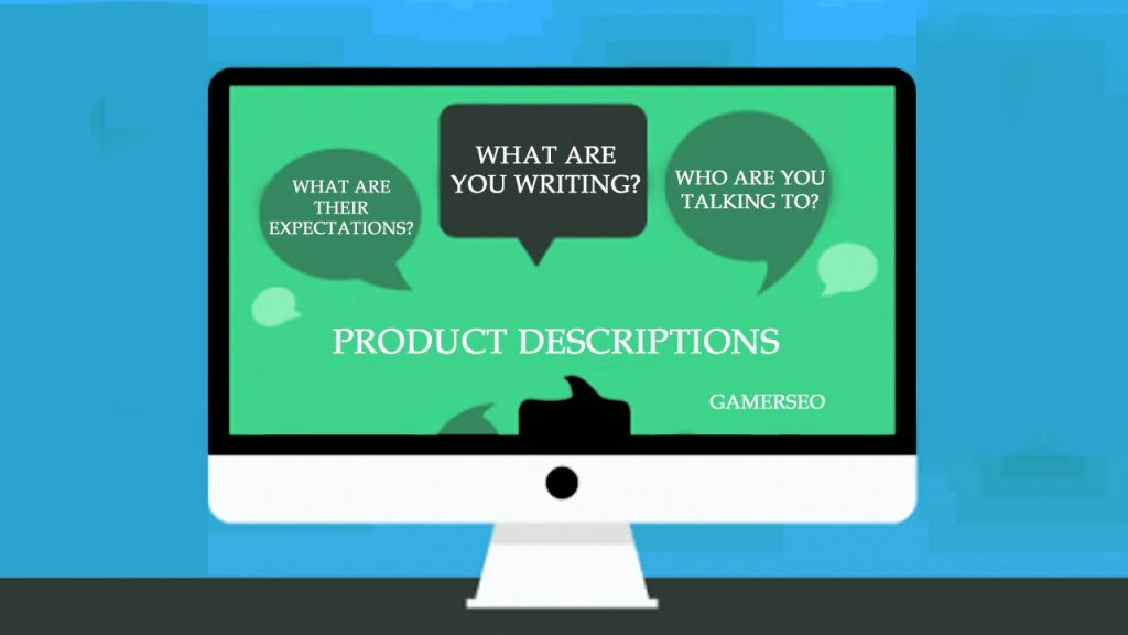 Using proper tone and voice in product descriptions