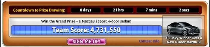 Mazda ad in Bejeweled Blitz
