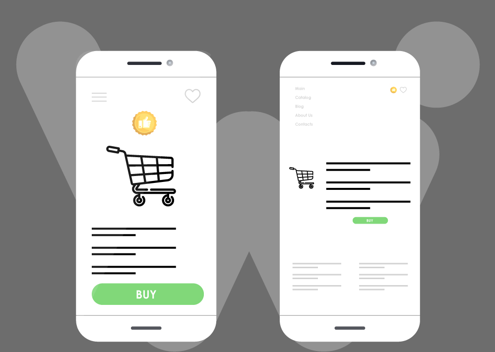 custom design in an online store