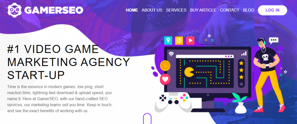 GamerSEO home page