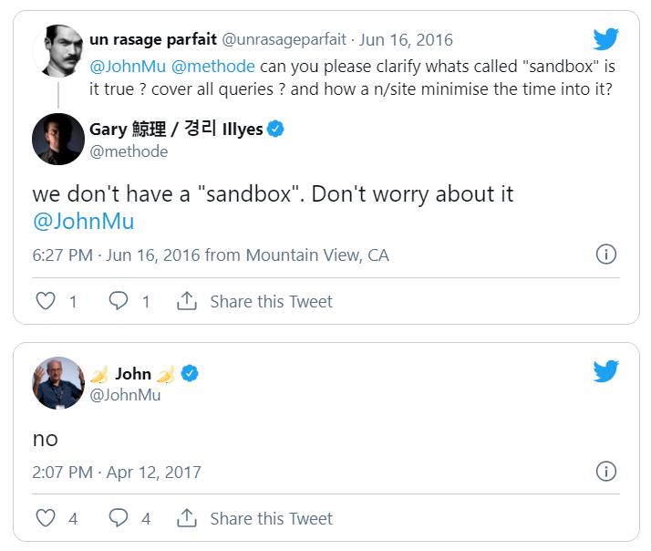 Google's John Mu about sandboxes