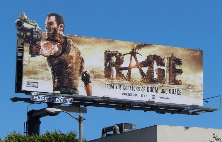 PC game Rage 2 billboard campaign in North America