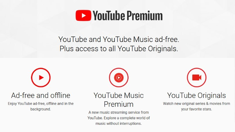the benefits of YouTube premium for users: access to premium youtube content (series, movies), no ads, and youtube premium music allowing background play