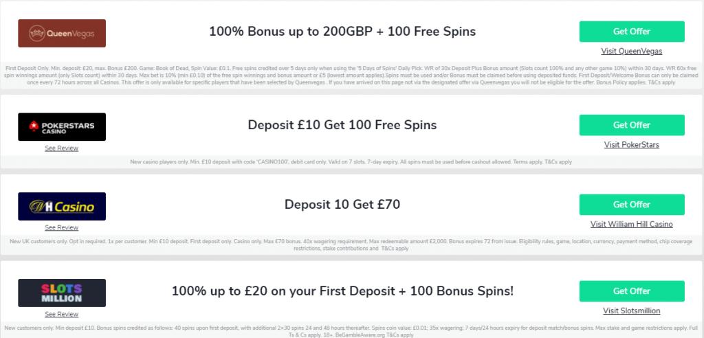 an insight into bonuses of different gambling platforms through OddsChecker