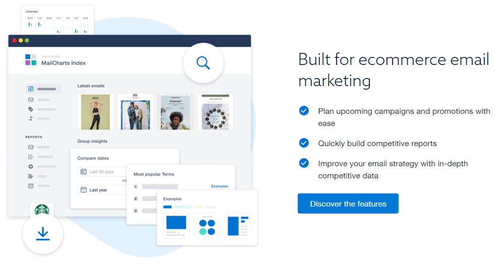 mailcharts as one of the free tools that help monitor email campaigns of e commerce companies