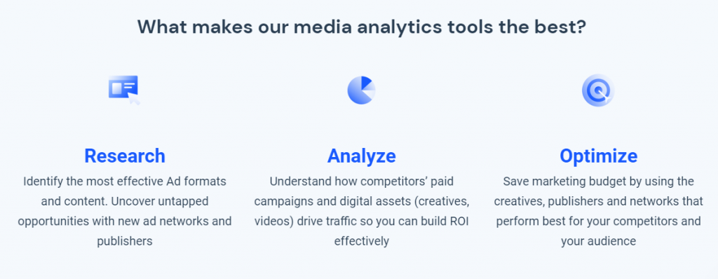 similarweb as one of competitor analysis tools that help monitor ad groups of active ads, ad spend, and when competitors are running ads