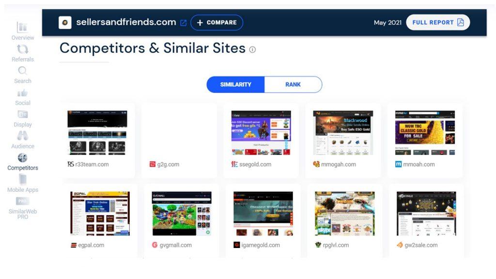 Similarweb competitors and similar sites