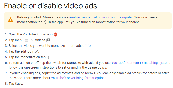 tutorial how to make ads run through youtube video manager