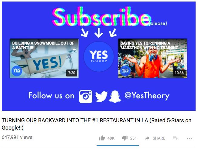 video CTA example