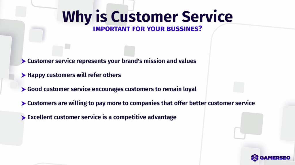 the path and purpose of having good customer service by GamerSEO