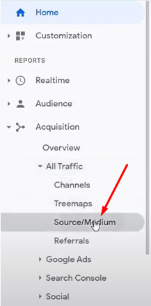 how to check page visitors by traffic sources